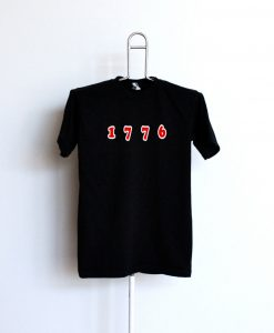 1776 Unisex adult Black T shirt