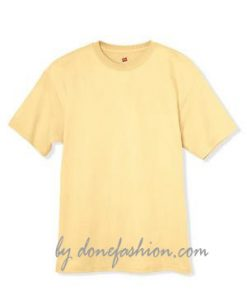 A mustard yellow t shirt
