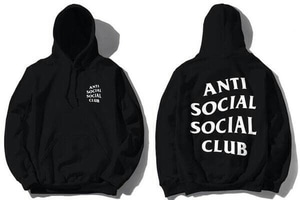 ANTI SOCIAL FRONT BACK BLACK HOODIES