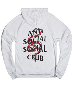 Anto Social Social White back hoodies
