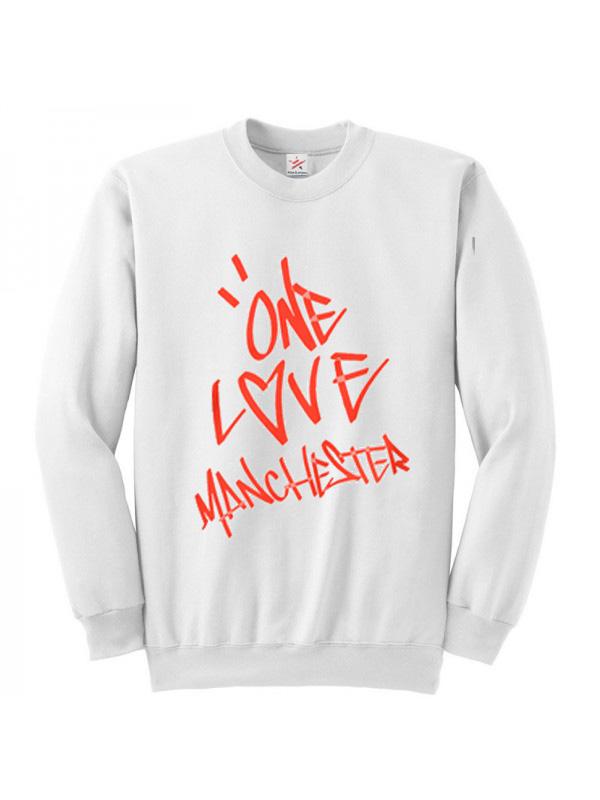 Ladies Girls Ariana Grande ONE LOVE MANCHESTER Tee T-Shirt Sweatshirt TOP Tunic