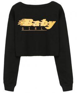 Baby Girl Cropped Sweatshirt