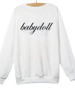 Babydoll White Sweatshirt