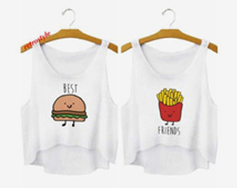Best Buger & Friends fries White Tank Top
