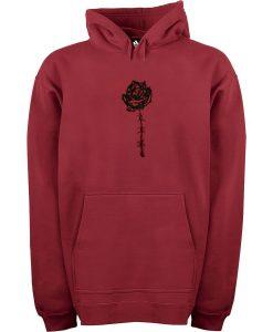 Black Rose Adult unisex Pullover Maroon Hoodie