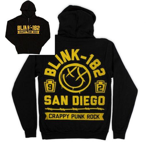 Blink 182  Crappy Punk Rock San Diego Hoodie
