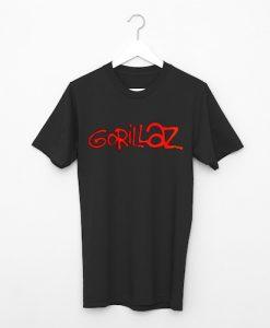 Gorillaz Unisex adult blackT shirt