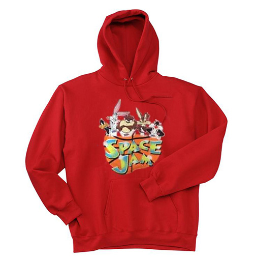 cheaper a2a80 d08b4 Looney Tunes SPACE JAM Red Sweater and Hoodie