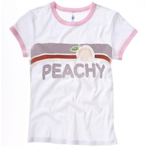 Peachy pink ringer T-Shirt