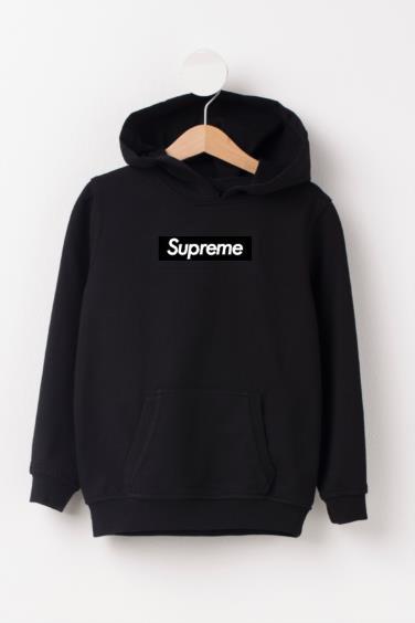 Supreme Logo Black Hoodie