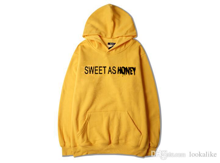a552614de Sweet As Honey yellow hoodies - donefashion.com