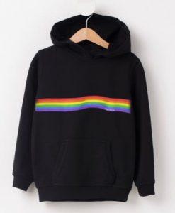 The Rainbow Black Hoodie