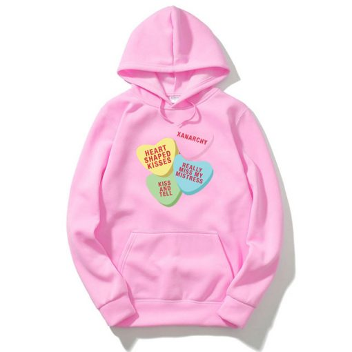 Xanarchy candy Heart Pink hoodie