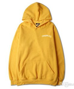 Yellow Shadow Hill Adult unisex Hoodies