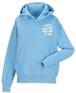antisocial social club blue hoodie