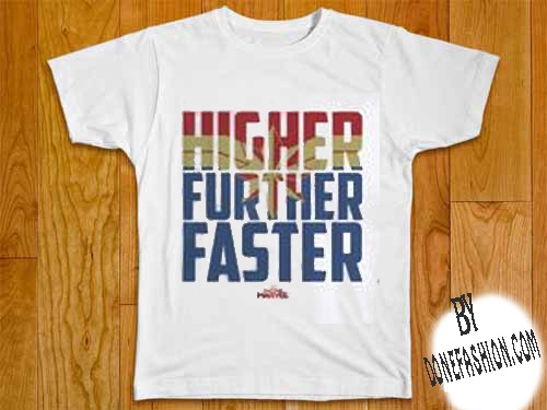HIGHER FURTHER FASTER WHITE SHIRTS