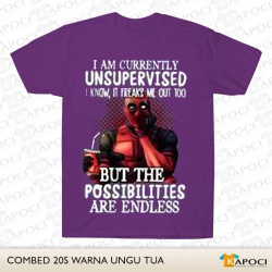 Im Currently Unsupervised I Know, It Freaks Me Out Too Purple Tees