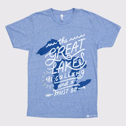 Michigan The Great Lakes Are Calling And I Must Go T-Shirt