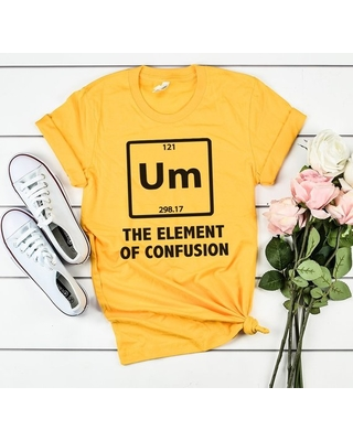 UM THE ELEMENT OF CONFUSION YELLOW SHIRTS