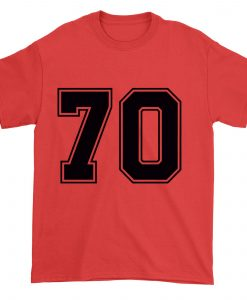 70 Number 70 Sports Jersey T-shirt