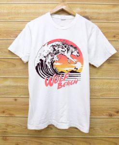 Wolf Beach White Tshirts