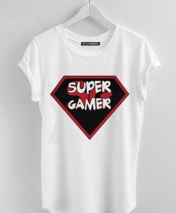 super gamer white t-shirt