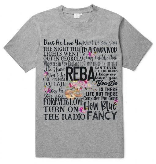Reba Songs Concert Fan T-Shirt