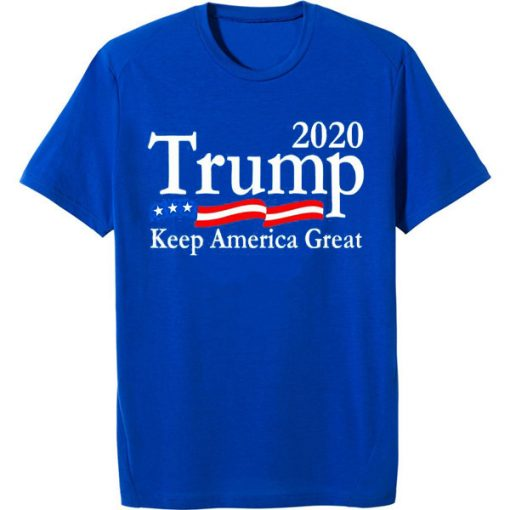 Trump 2020 Keep America Great USA Flag blue