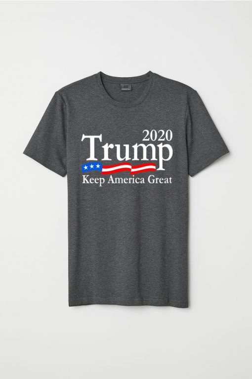 Trump 2020 Keep America Great USA Flag grey
