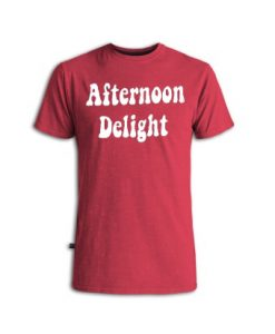 Afternoon Delight Maroon Vintage Tshirts