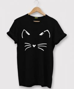 Cat Shirt Kitty Kitten Black T Shirt