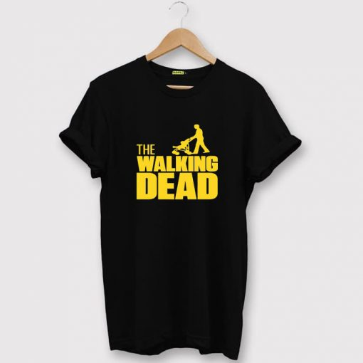 The Walking Dad Fathers Day Gift Black Tees