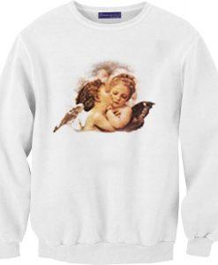 Angel Cheek Kiss Unisex Sweatshirts