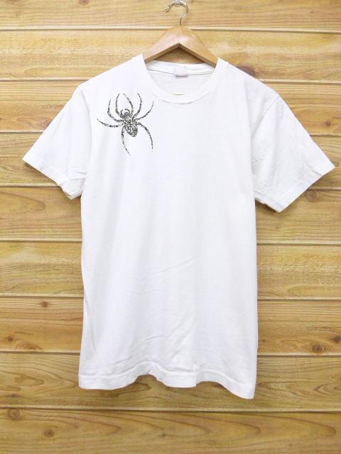 Spider Brooch Unisex T-shir White
