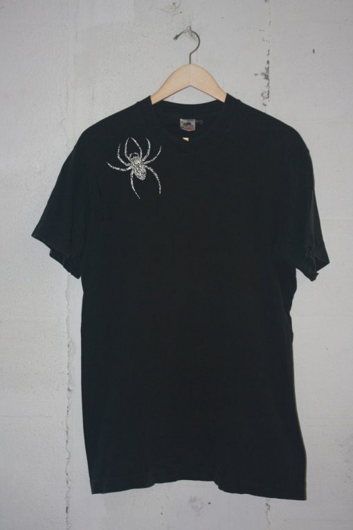 Spider Brooch Unisex T-shirt Black