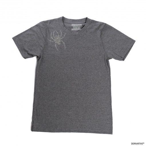 Spider Brooch Unisex T-shirt Grey Asphalt