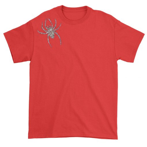 Spider Brooch Unisex T-shirt Shoft Red