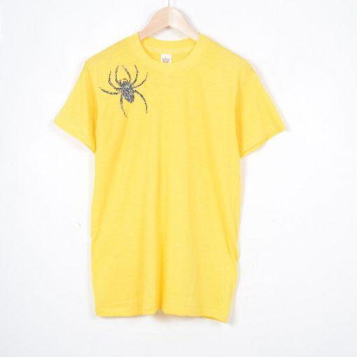 Spider Brooch Unisex T-shirt Yellow