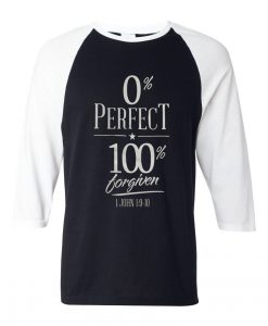0% perfect 100% grey asphalt white sleeves raglan t shirts