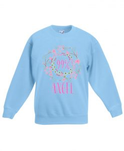 99 percent Angel Girl blue sea sweatshirts
