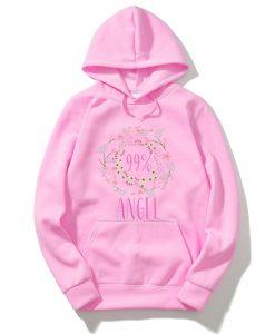 99 percent Angel Girl pink hoodie