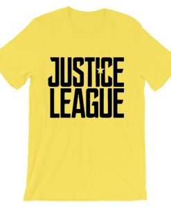 Justice League Exclusive yellow t shirts