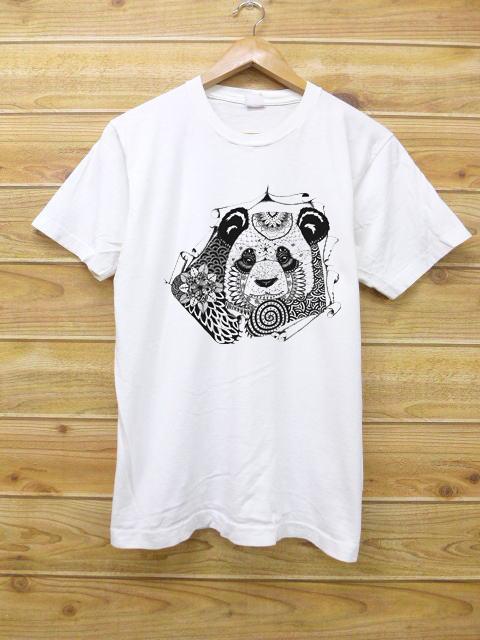 Mandala Panda white shirts