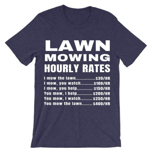 Lawn Mowing Hourly Rates Price List Grass Purple -Shirt
