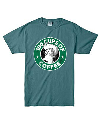 100 CUPS OF COFFEE Blue SpourceT shirts