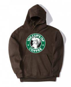 100 CUPS OF COFFEE Brown Hoodie