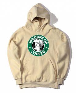 100 CUPS OF COFFEE Cream Hoodie