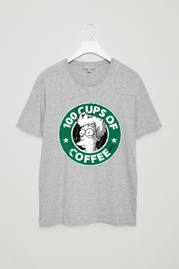 100 CUPS OF COFFEE Grey Light T shirts