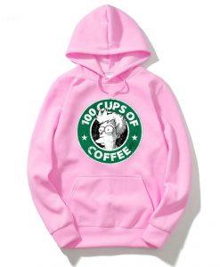 100 CUPS OF COFFEE Pink Woman Hoodie