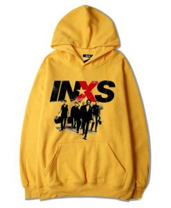 INXS in excess Michael Hutchence The Farriss Brothers Yellow Hoodie